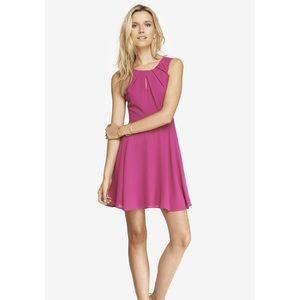 Fuschia pink keyhole dress